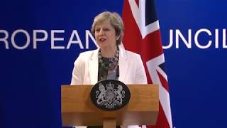 Prime Minister speaking at the EU Council: 20 October 2017
