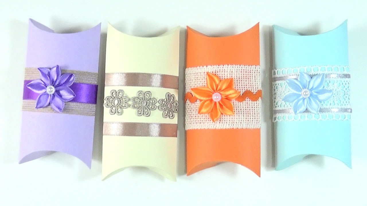 61e991b27 TUTORIAL: Cómo hacer cajas de regalo | How to make a Pillow Box - YouTube