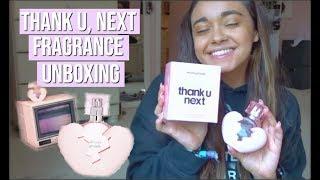 thank u, next fragrance unboxing