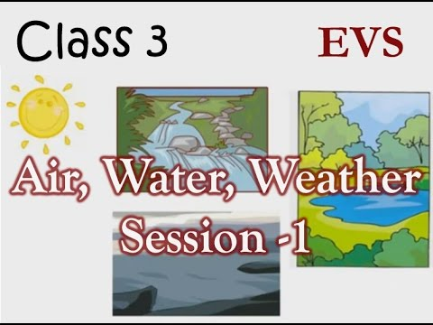 Grade 3 Science Air Water And Weather Video Lecture 1 Youtube