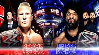 Brock Lesnar VS Jinder Mahal - WWE Survivor Series 2017