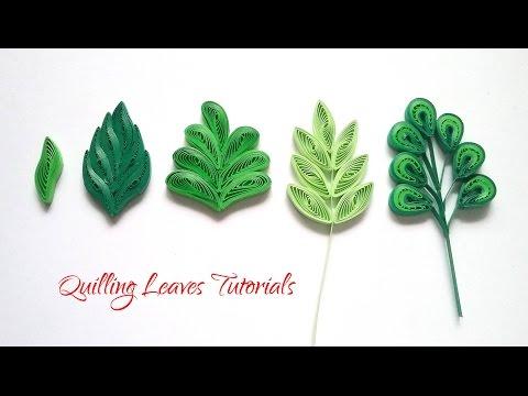 QUILLING LEAVES TUTORIALS | BASIC QUILLING TUTORIALS | DIY PAPER LEAVES