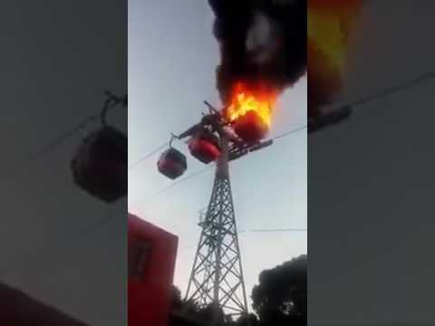 Is this true?Genting highland cable car burning
