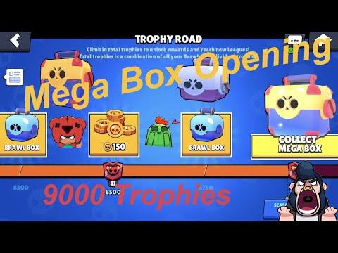 Mega Box Opening Reaching 9000 Trophies: *New* Brawl Stars: FreeToPlay (2019)