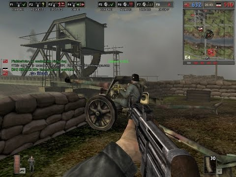Battlefield 1942 Liberation of Caen Online Multiplayer Gameplay