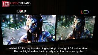 OLED VS LED TV : Side by Side Comparison !