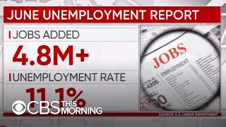 Nation's unemployment rate falls to 11.1% as economy adds another 4.8 million jobs in June