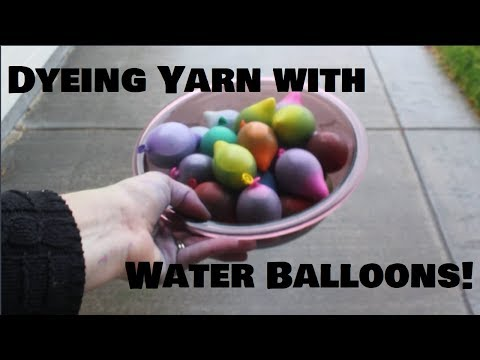 Dyeing Yarn and Roving with Water Balloons | Take 2