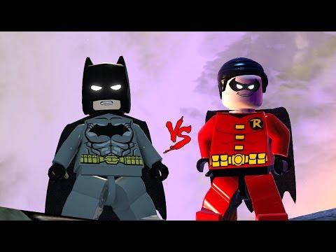 BATMAN VS ROBIN LEGO FIGHT - LEGO BATMAN 3