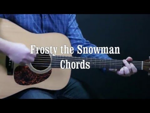How to play Frosty the Snowman on Guitar Easy Chords - Beginner