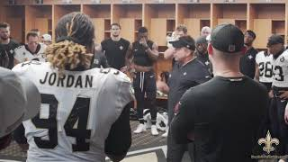Exclusive: Watch the Saints locker room celebration after Monday Night Football