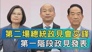 【TVBS新聞精華】第二場總統政見會交鋒  第一階段政見發表