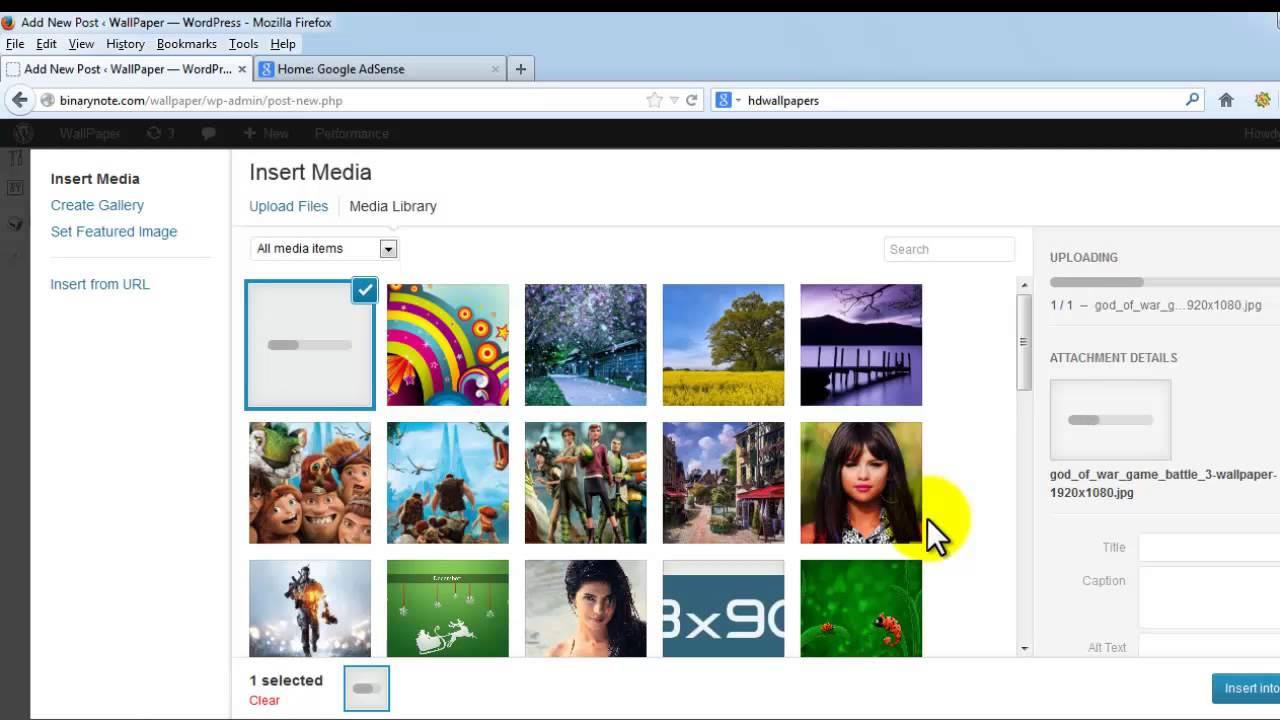 How to upload wallpaper in WallPaper WordPress Theme - YouTube