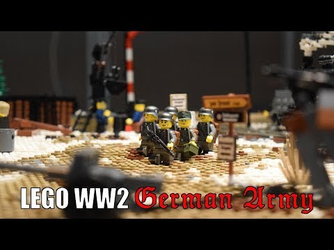 Lego WW2 German Army in East Prussia Diorama REVIEW - Hardenberg 2017
