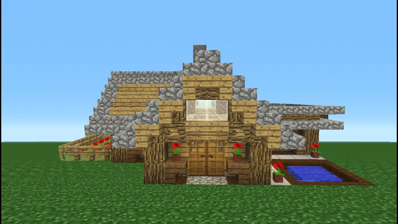 Minecraft Tutorial  How To Make A Survival Starter House  5 Building Tips