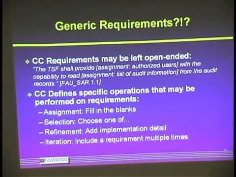 Daniel Faigin, Overview of Common Criteria (September 10, 2003)