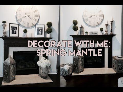 Decorate With Me: Spring Mantle I 1 Mantle 4 Ways! I Chelsey Washington
