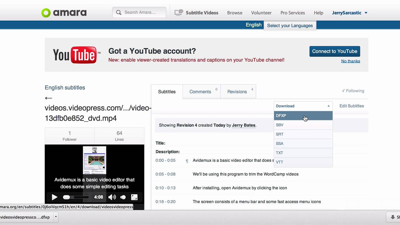 How to add captions or subtitles to a wordpress tv video wordpress how to add captions or subtitles to a wordpress tv video wordpress tv ccuart Images
