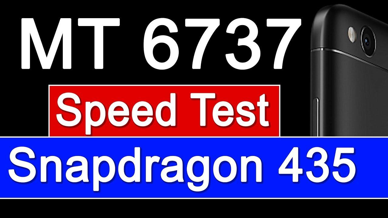 MediaTek MT6737 Vs Qualcomm Snapdragon 435 Real Comparison - Speed Test[Hindi]