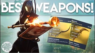 Assassin's Creed Origins | BEST ENDGAME WEAPONS & HOW TO GET THEM! - Fire Sword, Fire Staff & MORE!