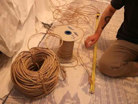 55.  Conditioning Jute Rope.  Pt. 1  Measure and cut.