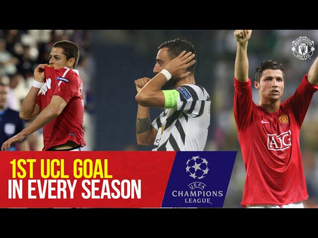 First Champions League goal in every season | Ronaldo, Bruno, Pogba | Young Boys v Manchester United