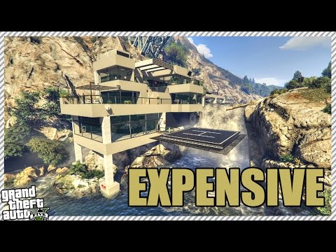 GTA 5 Mods - 5 SUPER EXPENSIVE MILLIONAIRE PROPERTIES | MTV Cribs Mega Mansion (GTA 5 Gameplay)