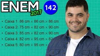 🔥 ENEM 2017 Matemática #07 👉 Geometria Espacial e Cálculo de Volume do Cubo e do Paralelepípedo