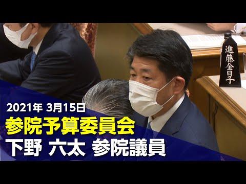 2021/03/15 参院予算委員会 下野六太参院議員