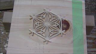 """組子細工で色々な模様を作ってみた 其の1 Japanese craftsmanship """"Kumiko"""" no.4"""