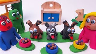 BABY SUPERHERO FIND NEW DOG - Stop Motion Play Doh & Clay Kids Cartoons