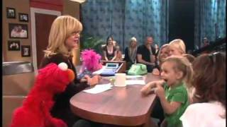 Girl speechless meeting Elmo -  THE BONNIE HUNT SHOW