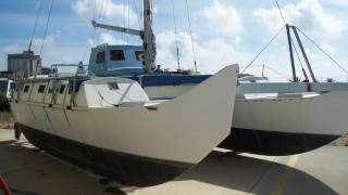 James Wharram pahi 31 catamaran sailing yacht. boat for sale