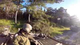 Driving the APC M113 (Armored Personnel Carrier)