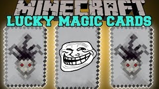 Minecraft: LUCKY MAGIC CARDS (TROLLING AND TEST YOUR LUCK!) Mod Showcase