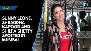 Celeb Spotting: Sunny Leone, Shraddha Kapoor and Shilpa Shetty spotted in Mumbai thumbnail