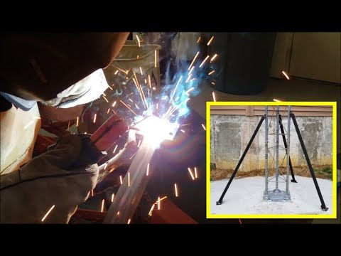 DIY fabricating steel Ham Radio antenna tower supports 01-01-19