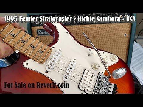 SOLD - 1995 Fender Stratocaster - Richie Sambora - USA