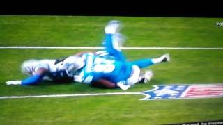Dallas Cowboys vs Detroit Lions Ref Picks up Flag and Cowboys Win Bad call Lions Robbed