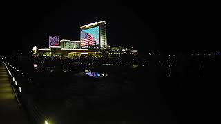 Time Lapse of Night Flag Display from Golden Nugget (Atlantic City, NJ) on 11/11/2019