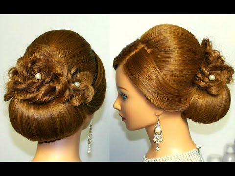 Bridal Hairstyle For Long Hair Updo Tutorial With Ided Flowers