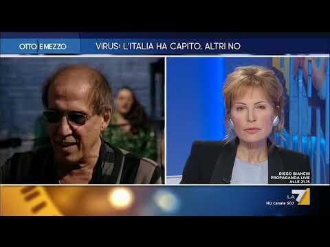 Coronavirus, in esclusiva la telefonata di Adriano Celentano a 'Otto e mezzo': 'La paura è un ...