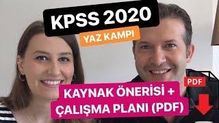 KPSS 2020 Yaz Kampı Kitap Önerisi | Çalışma Programı | Hedef 90 üstü