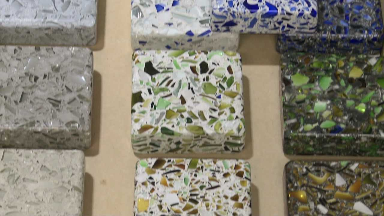 Eco Friendly Countertops   Recycled Glass U0026 Concrete Counters   Austin, TX    YouTube