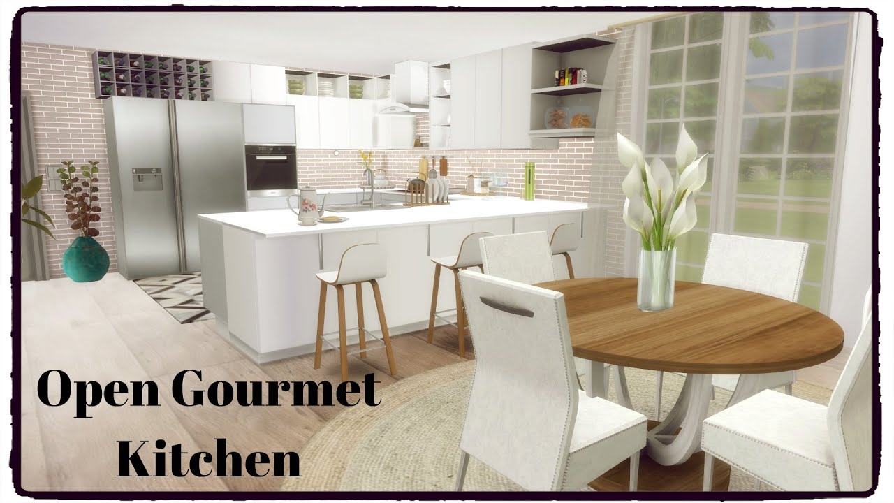 Sims Kitchen Sims 4 Open Gourmet Kitchen Youtube