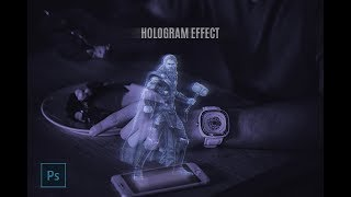 How to design hologram effect in Adobe Photoshop with HINDI [Creative work]