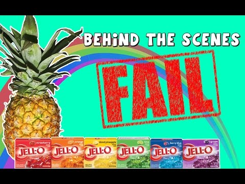 Behind the Scenes DCTC Rainbow Jello Gummy Pineapple Video FAIL with Amy Jo