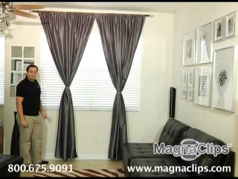 Magnaclips Curtain Tiebacks