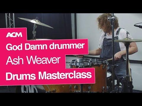God Damn drummer Ash Weaver