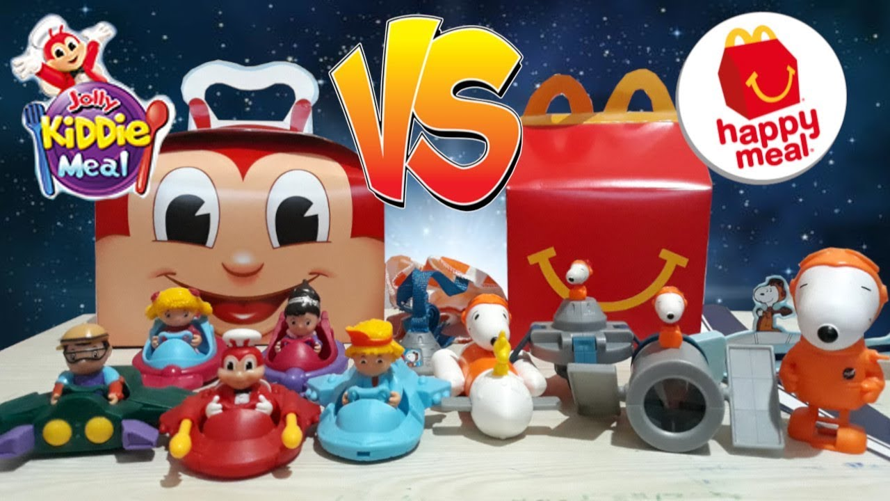 August 2019 Jollibee Kiddie Meal Vs Mcdonald S Happy Meal